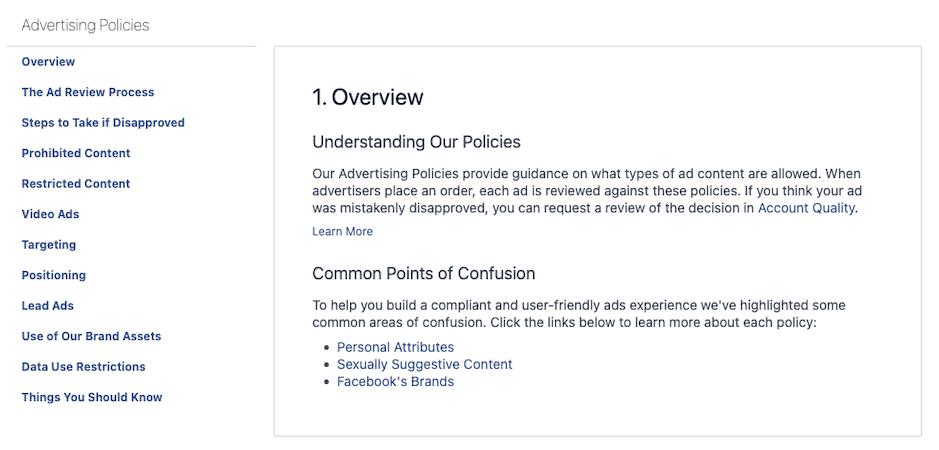 Facebook Marketing Strategie_Werberichtlinien