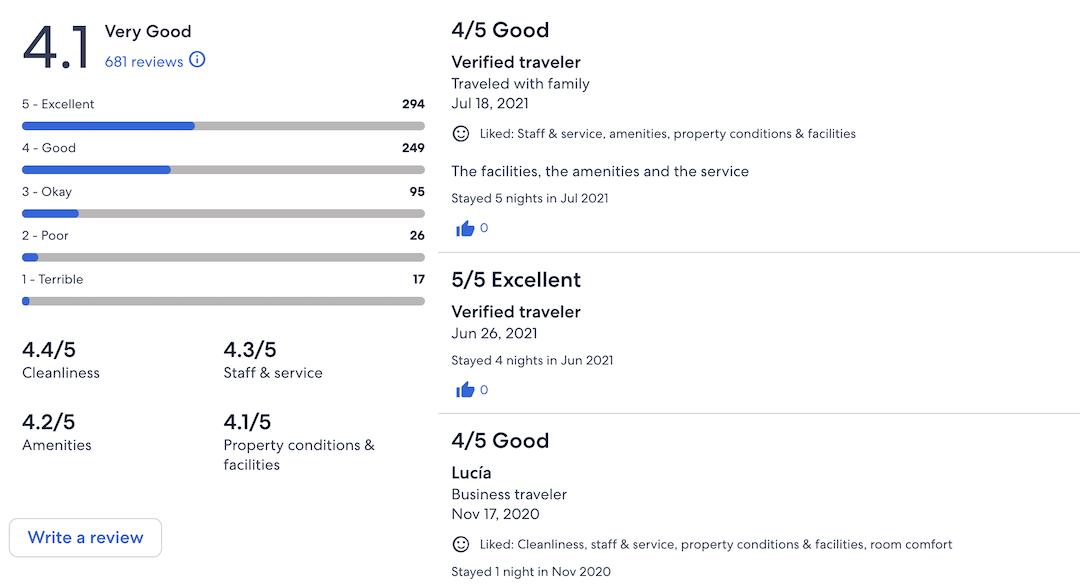expedia social proof - digitale customer experience