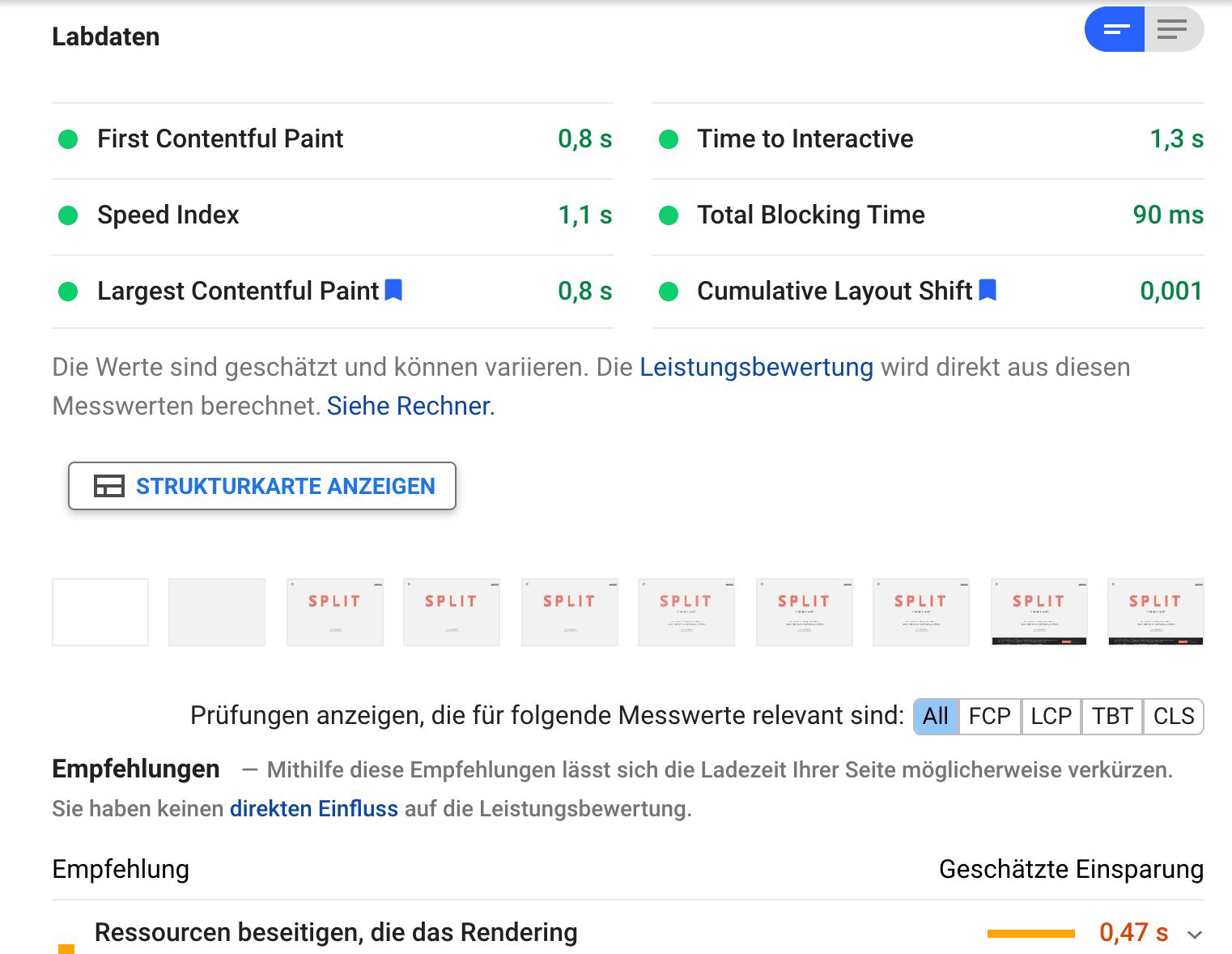 website ux design - page speed